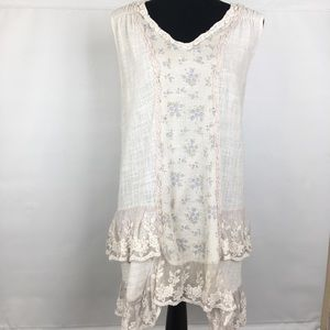 Pretty Angel Boho Lagen Look Sleeveless Tunic Top